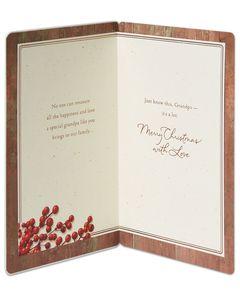 Pine Cones Christmas Card for Grandpa