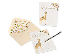 Giraffe Blank Cards with Envelopes, 20-Count