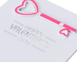 Heart Key Valentine's Day Card