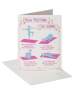 Funny Yoga Mother's Day Card