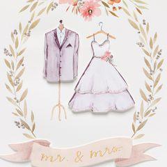 Wonderful Couple Wedding Greeting Card