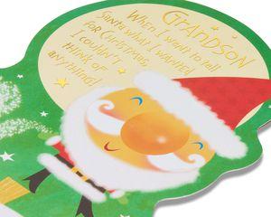 Santa Christmas Card for Grandson