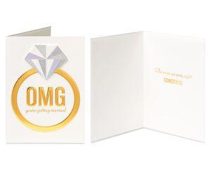 Cupcake and Ring Wedding Bridal Shower Greeting Card Bundle, 2-Count