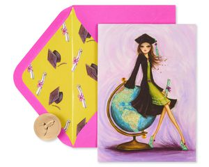 Look Out World Graduation Greeting Card