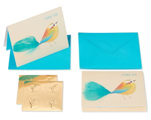 Bird Boxed Thank You Cards and Envelopes, 6-Count