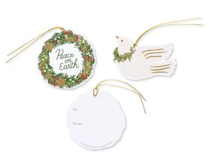Doves and Wreath Holiday Tags