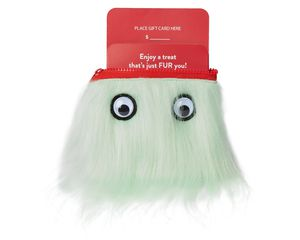 Warm Fuzzy Christmas Zippered Pouch Gift Card Holder
