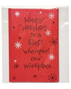 Happy Holidays Card for Boss
