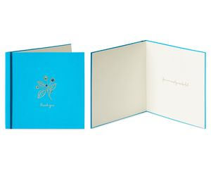 Flower and Butterfly Gems Thank You Greeting Card Bundle, 2-Count