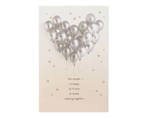 Balloons Bridal Shower Wedding Card