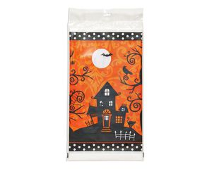 frightfully fancy plastic table cover, 54 in. x 102 in.