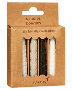 Black & White Birthday Candles, 12-Count