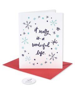 wonderful life romantic holiday card