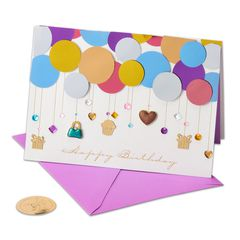 Layers of Balloons Birthday Greeting Card