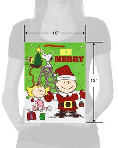 Medium Peanuts Christmas Gift Bag
