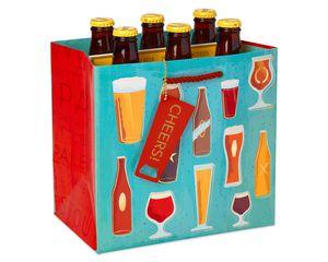 Beer Gift Bag, Cheers, 1-Count