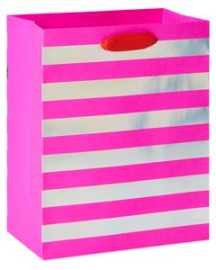 Large Valentine's Day Gift Bag, Pink, 1-Count