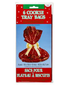 Holiday Cookie Tray Bags, 6-Count