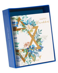 Star of David Holiday Boxed Cards, 20-Count