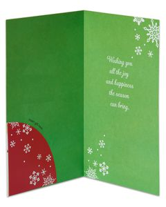 Joy and Happiness Money and Gift Card Holder Holiday Card