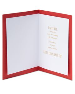 Love Note Valentine's Day Card