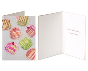Cake and Candles Birthday Greeting Card Bundle, 2-Count