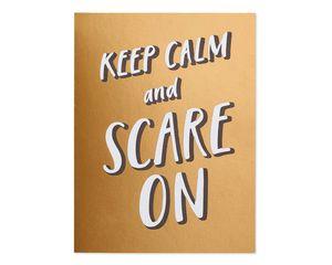 Keep Calm Halloween Card