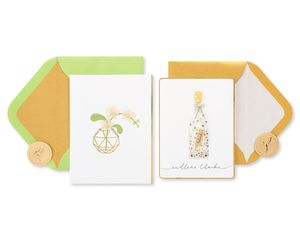 Message in a Bottle Thank You Greeting Card Bundle, 2-Count