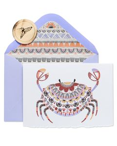 Crab Boxed Cards and Envelopes, 8-Count