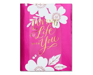 life with you valentine's day card