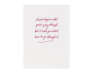 I Can't Imagine Sympathy Card