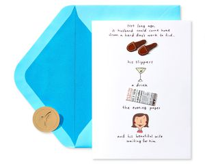 Beautiful Wife Father's Day Greeting Card for Husband