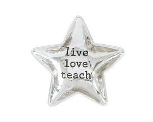 Mud Pie Live Love Teacher Mini Dish