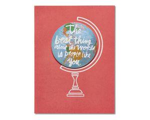 globe thank you card
