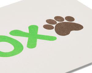 XOX Birthday Card from Dog