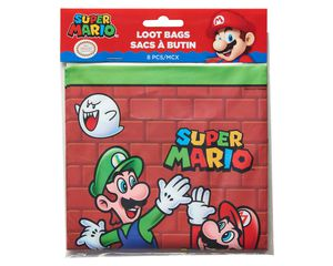 Super Mario Treat Bags, 8-Count,