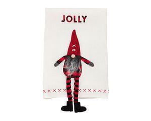 Mud Pie Jolly Dangle Leg Gnome Towel