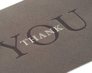 Thank You Thank You Greeting Card