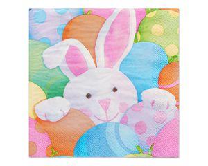 peek-a-boo bunny lunch napkin 16 ct