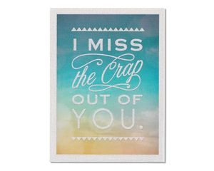 Miss You Thinking of You Card