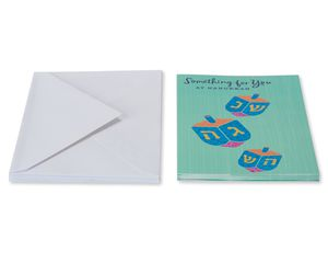 Dreidels Hanukkah Money and Gift Card Holder, 6-Count