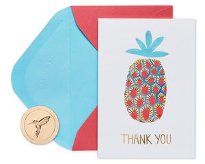Pineapple Boxed Thank You Cards with Envelopes, 20-Count