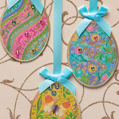 Hanging Eggs Easter Greeting Card