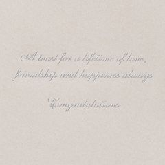 Champagne Flutes Wedding Greeting Card