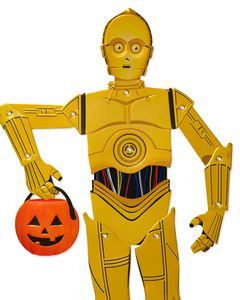 C3PO Star Wars Halloween Greeting Card