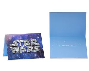 Funny Star Wars Birthday Greeting Card Bundle, 3-Count