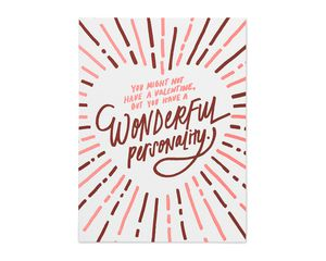 wonderful personality valentine's day card