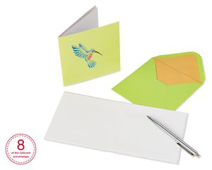 Gem Hummingbird Boxed Cards and Envelopes, 8-Count