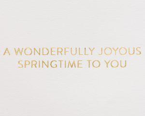 Joyous Springtime Easter Greeting Card