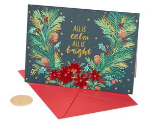 All Is Calm Holiday Boxed Cards, 12-Count